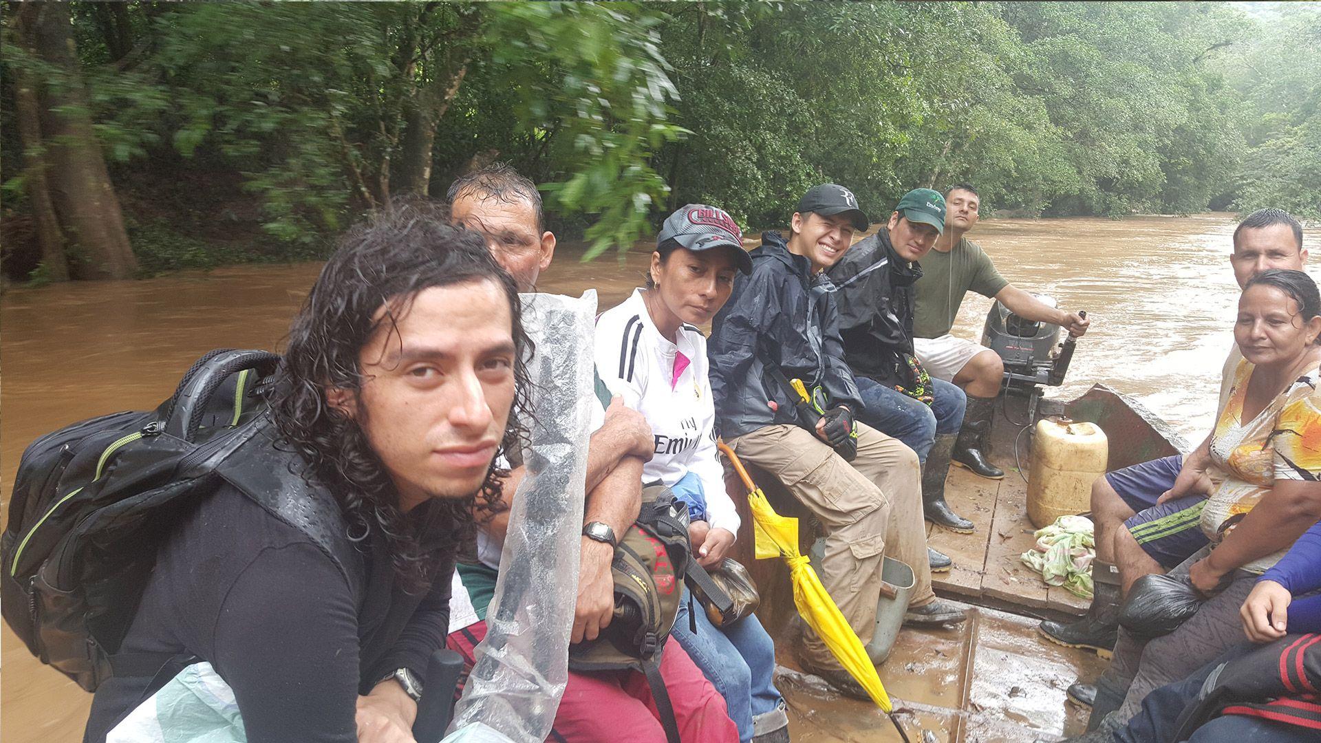 Cinco días duró el recorrido de los estudiantes por el bosque de la Serranía. Foto: Archivo particular.